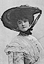 Lucy Duff Gordon wearing wide hat