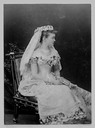 Luise Connaught seated wedding photo