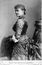 ca. 1880 Luise Margaret of Prussia, Duchess of Connaught from the side detint