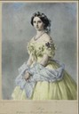 1857 Luise of Prussia print after Winterhalter