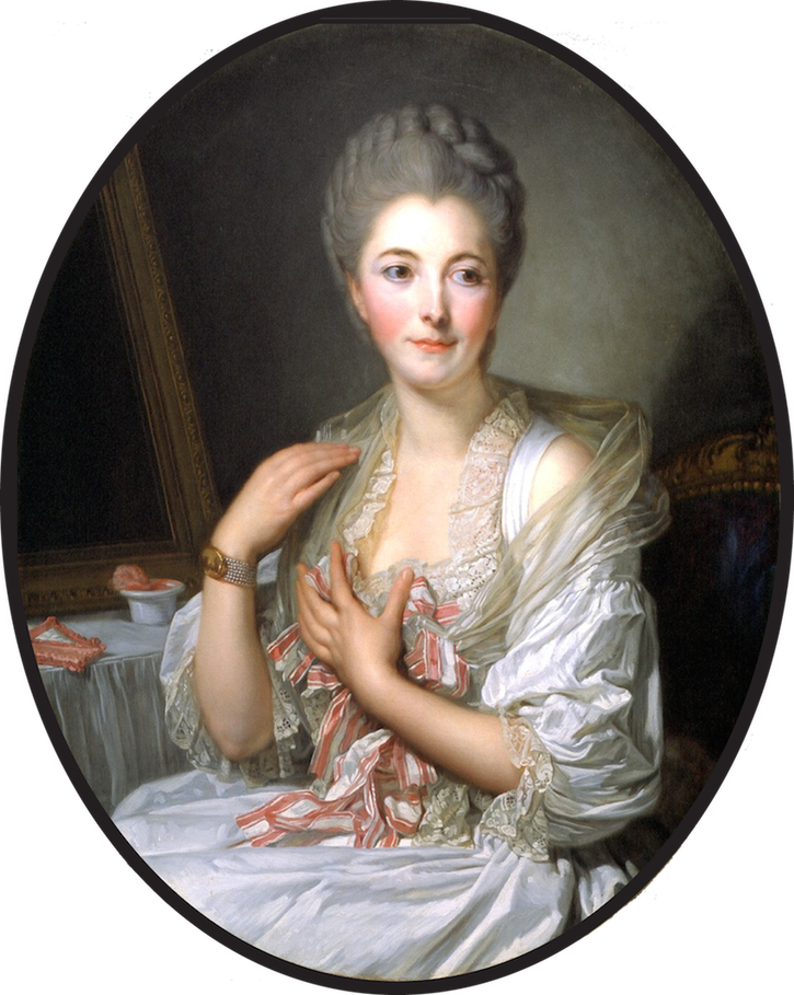 Madame de Courcelles at Her Toilette by Jean Baptiste Greuze (private collection) From www.matthiesengallery.com