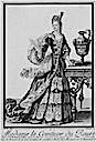 Madame comtesse de Roure wearing an un-draped over-skirt