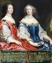 Magdeleine d'Angennes, épouse de Henri duc de La Ferté-Senneterre, et Catherine d'Angennes, épouse de comte d'Olonne by ? (Château de Bussy-Rabutin - Bussy-le-Grand, Côte-d'Or department, Bourgogne France)