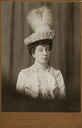 Maie Orleans Denmark wearing a feathered hat