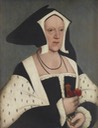 Marchioness of Dorset (1487–1541) after Hans Holbein the Younger (Anglesey Abbey - Lode, Cambridgeshire, UK) Wm removed reflection artifact