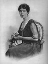Margaret of Connaught seated in late- or post-War dress