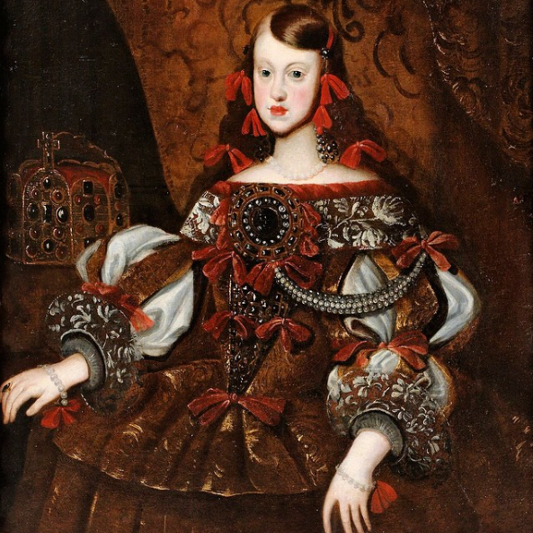 Margarita de Austria, infanta de España y emperatriz de Austria by ? (location ?) From Pinterest