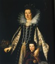 Margherita de' Medici, Duchess of Parma and Piacenza, with one of her sons, probably Onorato Farnese (1636-1656) (Not her mother Maria Magdalena of Inner-Austria!)