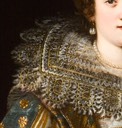 Margherita di Cosimo II ; portrait of a Medici Princess by Justus Susterman (Ball State University, Muncie Indiana) collar