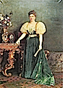 Margherita of Italy wearing large 1890s sleeves