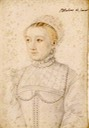 Marguerite de France, duchesse de Savoie after François Clouet (Musée Condé - Chantilly, Picardie, France) From jeannedepompadour.blogspot.com/2012/09/valois-women-of-valois-duchess-of X 1.5 ic. contrast