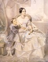 1849 (estimated) Maria Adelaide with her son Umberto I by Selon