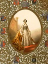 1856 Maria Alexandrovna in coronation robes - pictures by Zichy, frame by Monighetti