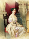 Maria Alexandrovna seated portrait by ? (location unknown to gogm)