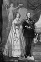 Maria Anna Leopoldine of Saxony with her husband