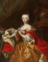 Maria Anna of Austria (1718–1744), Governor of the Austrian Netherlands by Johann Gottfried Auerbach (Restaurant Piaristenkeller - Wien, Austria) Wm