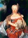 Maria Anna, Queen of Portugal, née Habsburg (1683-1754) after her husband was paralyzed by a stroke (1742) per Euroyale on Picasa by ? (Museo Nacional dos Coches - Lisboa Portugal)