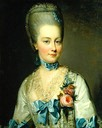 Maria Carolina wearing a high coiffure