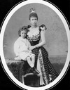 María Cristina and a toddling Alfonso XIII