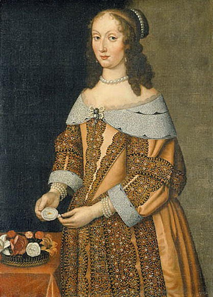 Maria Eufrosyne, 1625-1687, prinsessa av Pfalz-Zweibrücken attributed to Hendrik Munnichhoven (Nationalmuseum - Stockholm, Sweden) Wm