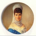 1900 Maria Feodorovna miniature also posted with red sash