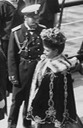 Maria Feodorovna wearing embroidered cape and Nicholas II From theimperialcourt.tumblr.com detint X 1.5