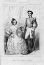 Maria II of Portugal and Emperor Pedro II of Brasil