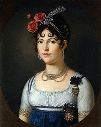 Maria Luisa of Spain, Queen of Etruria and Duchess of Lucca by François-Xavier Fabre (location unknown to gogm) the lost gallery