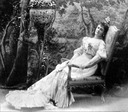 Maria Pavlovna in reclining pose