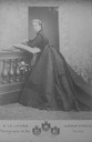 Maria Pia wearing a dark crinoline dress