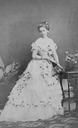 Maria Pia wearing a late 1860s evening dress