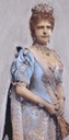 1887 Maria Pia wearing blue court dress upper half