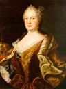 Maria Theresia wearing clasped bodice probably by Martin van Meytens (location unknown to gogm)