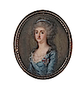 Maria Amalia of Saxony (1757-1831), wearing blue dress, sheer fill-in, a medal suspended from a blue and red ribbon pinned to her breast, her hair worn à la conseilleur and dressed with a blue bandeau by ? (Bonham's)