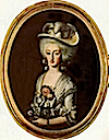 Maria Ana Carlotta Gabriela of Savoy, Duchess of Chablais wearing a wide-brimmed hat by ? (location unknown to gogm)
