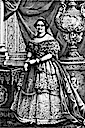 Maria Cristina wearing court dress