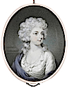 Maria, Duchess of Gloucester (1736–1807), wearing white dress and blue mantle, her powdered wig worn à la conseilleur by Philip Jean (Bonham's)