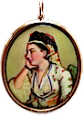 Maria Gunning in Turkish costune miniature
