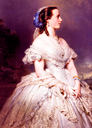1863 Marie-Henriette, Duchesse de Brabant (1836-1902), née Archduchess of Austria, Princess Palatine of Hungary by Franz Xaver Winterhalter (Belgian Royal Collection)