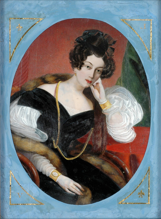Maria Theresia of Savoy in pensive pose by ? (location unknown to gogm) From the lost gallery