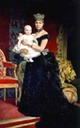 1886 or 1887 María Cristina and baby Alfonso XIII by ? (location unknown to gogm)