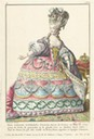 Marie Antoinette in robe du cour by Claude-Louis Desrais and Deny