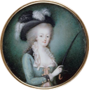 Marie Antoinette in equestrian dress by ? (location unknown to gogm) From pinterest.com-cjmcl1973-hm-marie-antoinette-queen-of-france- resized