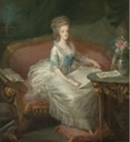 Marie Antoinette sitting on a sofa, attributed to Louis Charles Gauthier d'Agoty (auctioned by Christie's)