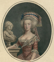 Marie Antoinette with a bust of Louis XVI by ? From Pinterest search