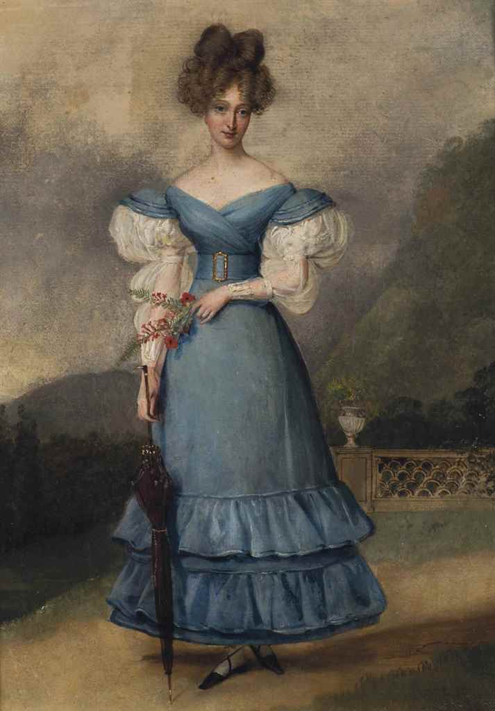 Marie-Caroline de Bourbon-Sicile (1798-1870), Duchesse de Berry by Alexandre-Jean Dubois-Drahonet (auctioned by Christie's) From the Christie's Web site