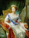 Marie Louise of Habsburg, former Empress of the French, and Duchess of Parma by ? (location ?) From Pinterest search