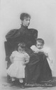 Marie Valerie and her children Franz Karl and Elisabeth Franzisca