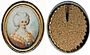 Marie Antoinette miniature showing her wearing a fichu