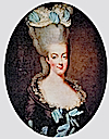 "Marie Antoinette wearing a ""decadent"" coiffure by Élisabeth-Louise Vigée-Lebrun (location unknown to gogm)"